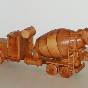 Concrete Truck made entirely out of Light Redwood