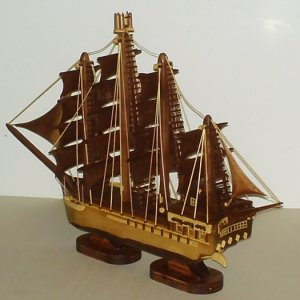 Ship - Made out of Black Walnut and Bamboo 350+ pieces