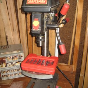 This little drill press was another Craig's List find.