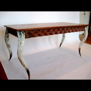 African horn furniture