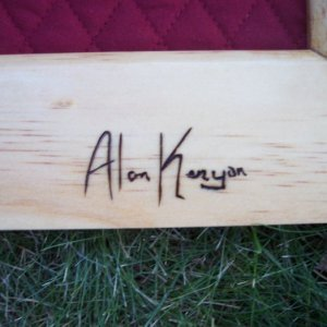 burned my name into the bottom, still need to work on getting the wood burning down