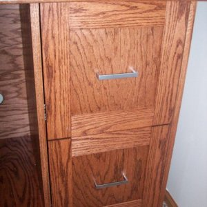 Inset drawer fronts.