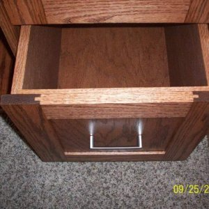 "Panels drawer fronts. Drawers were just 3/4"" plywood with rabbeted corners."