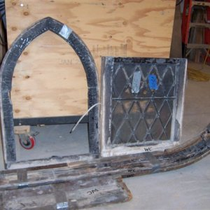 "Curved church window before.  ""can you fix it?"""