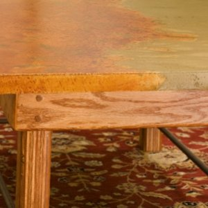 Stained Coffee Table detail