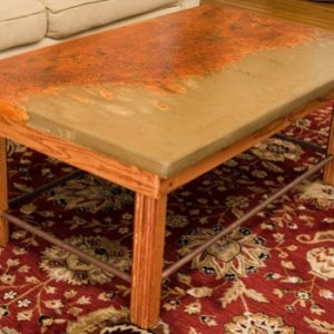 Stained coffee table