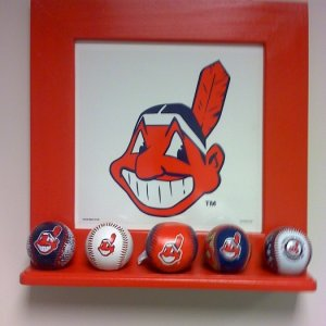 Chief Wahoo picture frame