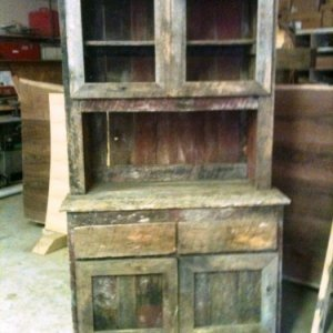 Barnwood China Hutch