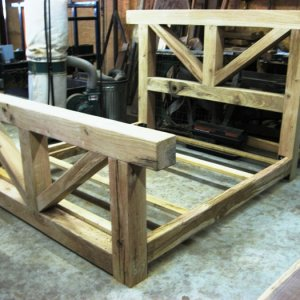 6x6 Oak Bed Unfinished