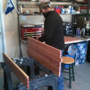 Helping my friend Brian with a cedar chest
