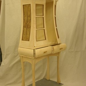 Tall cabinet on stand