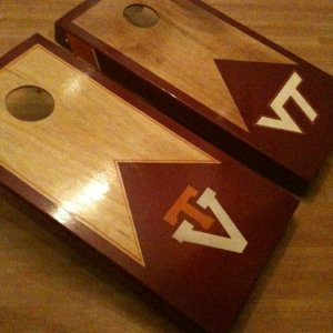 cornhole boards.