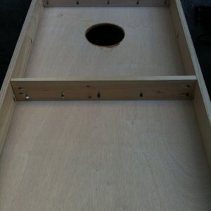 pocket holes for cornhole boards.