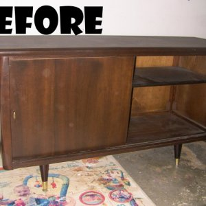 Got this for free following a garage sale.  Carcass was in good shape, so I decided to give it a facelift.  See after pics.