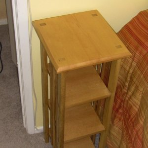 Here's my first project using mortise and tennon joinery.
