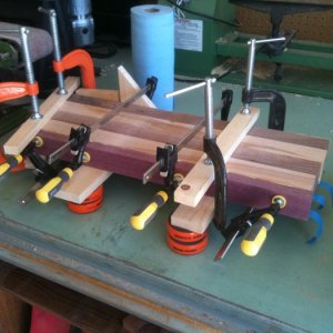 Gluing up for my fist end grain cutting board