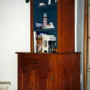 Pine Stepback Cupboard