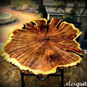 Mesquite Table with horse shoe base