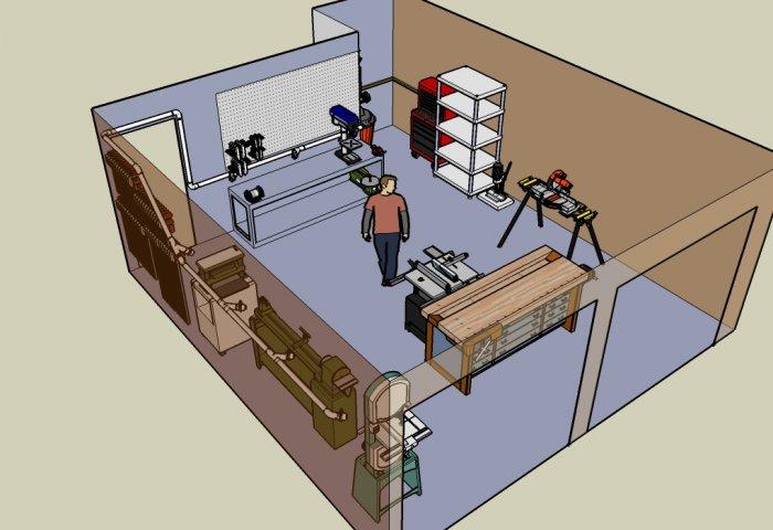 Woodwork Plans Pdf Woodworker 39 s Shop Layout Plans