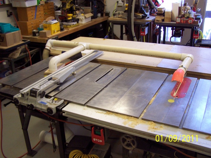Table Saw Throws Dust At Me Woodworking Talk Woodworkers Forum