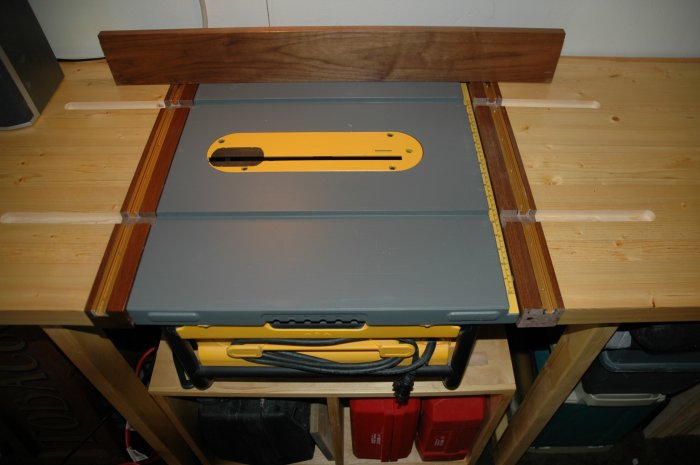 expect I will want to build a custom table for the saw, with the saw ...