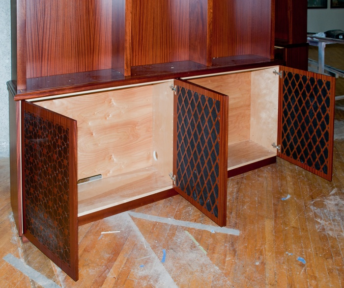 ... The design on the front and back of the doors is laser cut. & Staining/Finishing Sapele - Woodworking Talk - Woodworkers Forum
