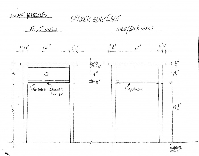 shaker style woodworking plans